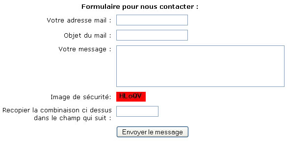 Comment insérer un formulaire de contact (mail php) dans mon site web ?