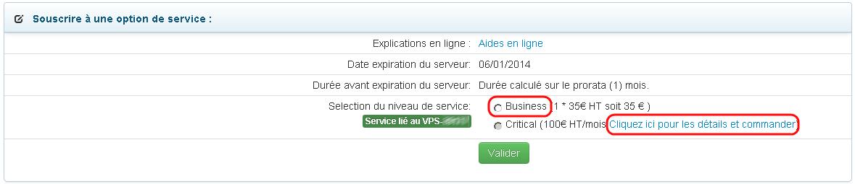 Options de support pour serveur dédié (VPS)
