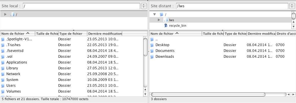 Synchroniser Pydio sur MAC