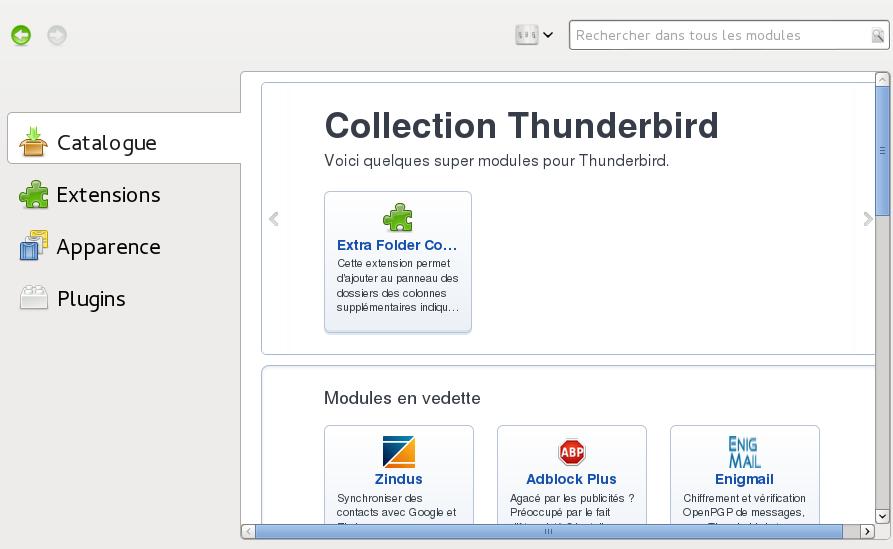 Comment synchroniser Pydio sur Thunderbird