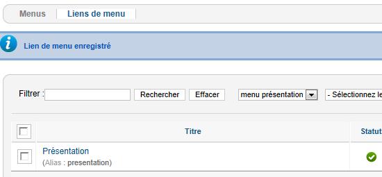 creer menu 11
